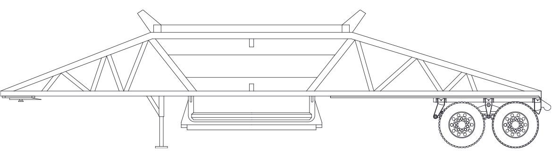 2-Axle Ranco Bottom Dump Trailer Dimensions