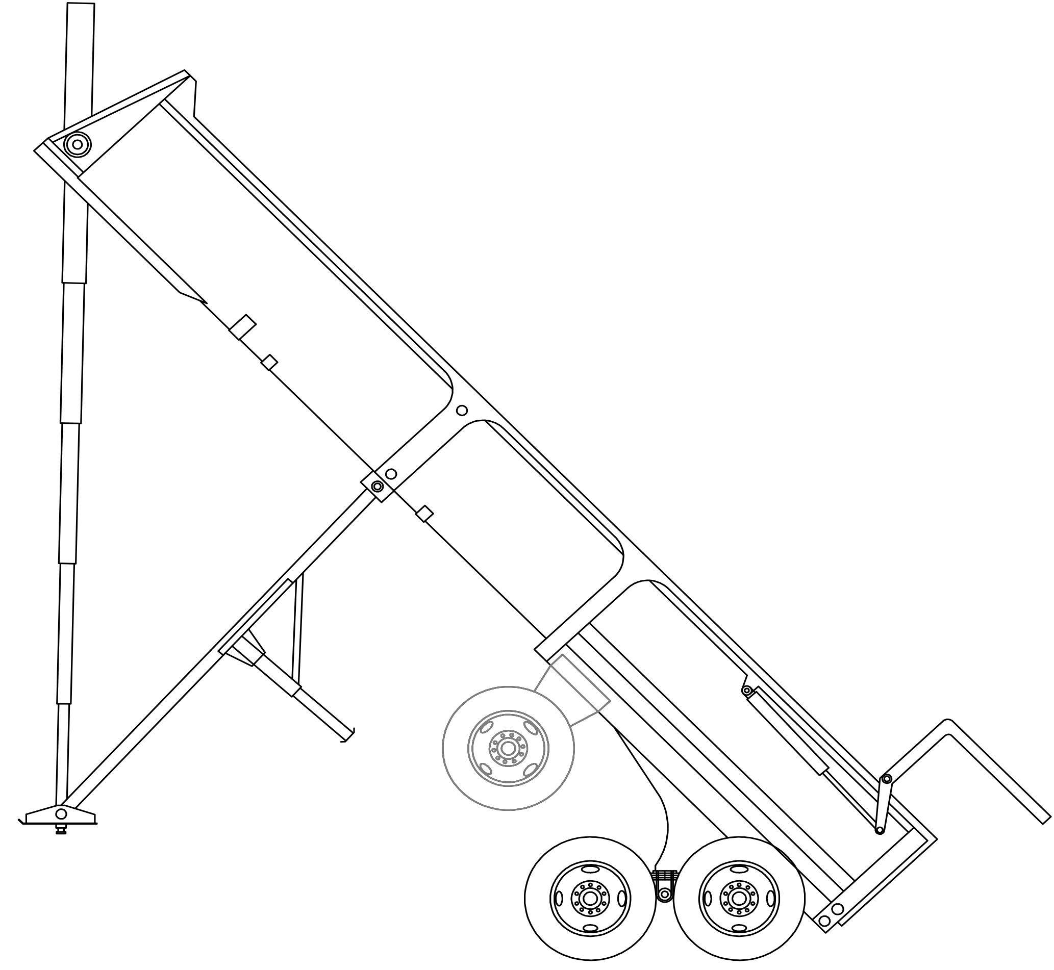 ED24-30-3 Ranco End Dump Trailer Drawing