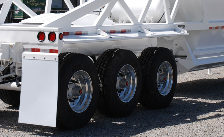 3-Axle Ranco Bottom Dump Trailer Wheels