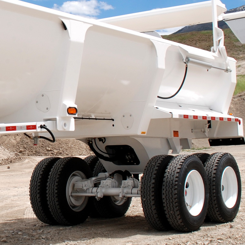 Tapered Bolsters on Ranco End Dump Trailer