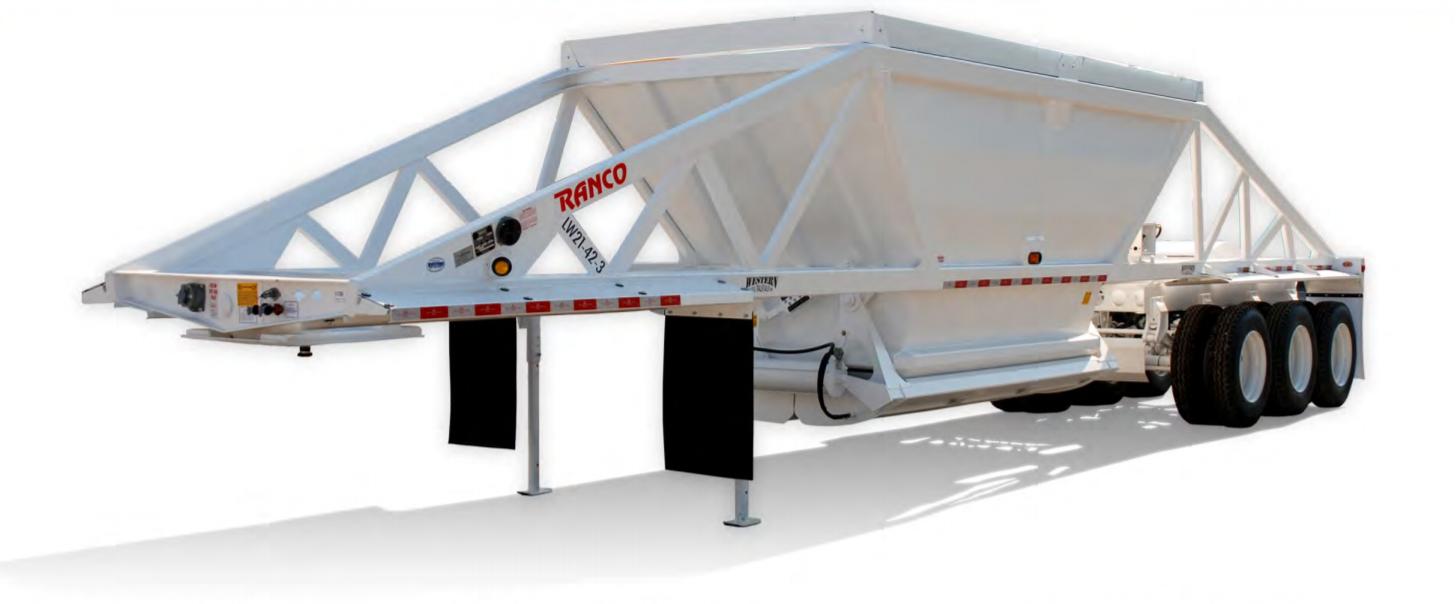 LW21-42-3 3-Axle Bottom Dump Trailer