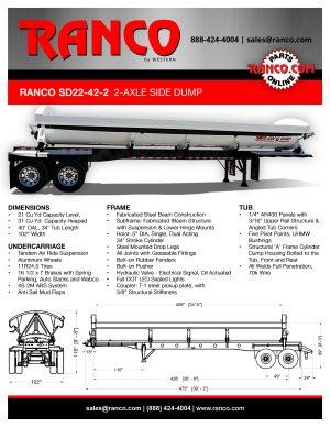 Ranco 2-Axle Side Dump