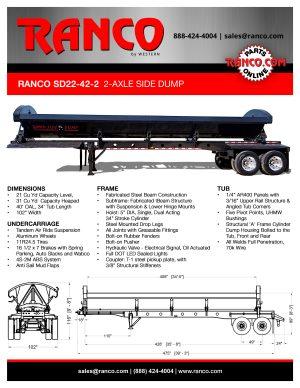 Ranco 2-Axle Side Dump - BLACK