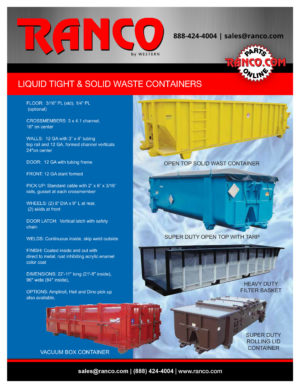Liquid Tight & Solid Waste Containers