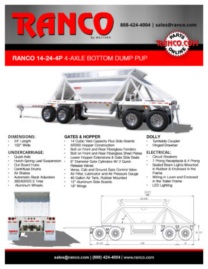 Ranco 14-24-4P 4-Axle Bottom Dump Pup