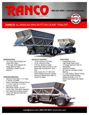 Ranco Aluminum Mini Bottom Dump Trailer