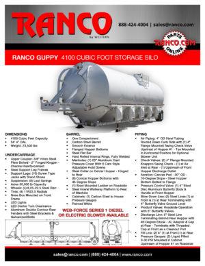 Ranco Guppy 4100 Cu Ft Storage Silo