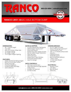 Ranco LW21-40-2 2-Axle Bottom Dump