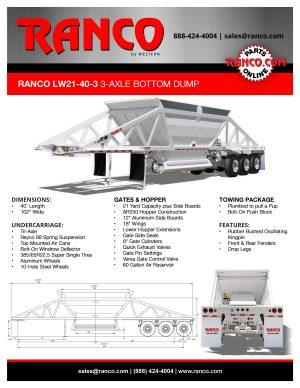 Ranco LW21-40-3 3-Axle Bottom Dump
