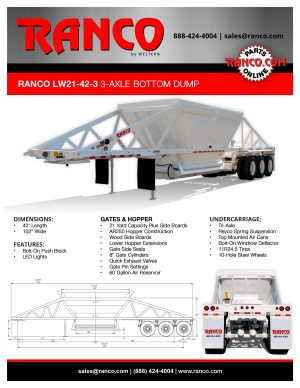 Ranco LW21-42-3 3-Axle Bottom Dump
