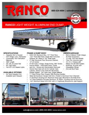 Ranco Light Weight Aluminum End Dump