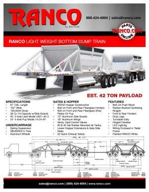 Ranco Light Weight Bottom Dump Train