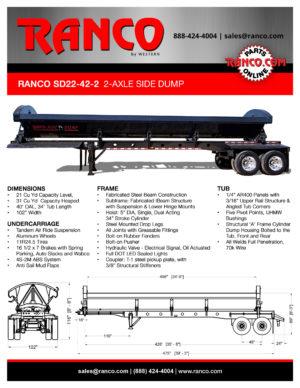 Ranco SD22-42-2 2-Axle Side Dump - BLACK