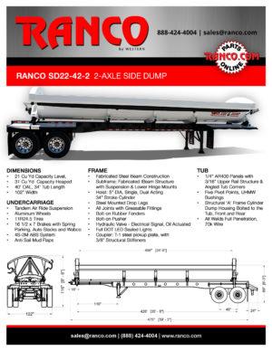 Ranco SD22-42-2 2-Axle Side Dump