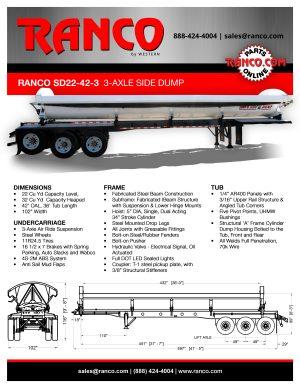 Ranco SD22-42-3 3-Axle Side Dump