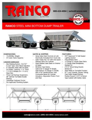 Ranco Steel Mini Bottom Dump