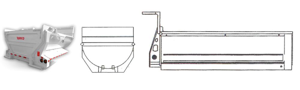 Ranco Anvil Dump Body Trailer Drawing