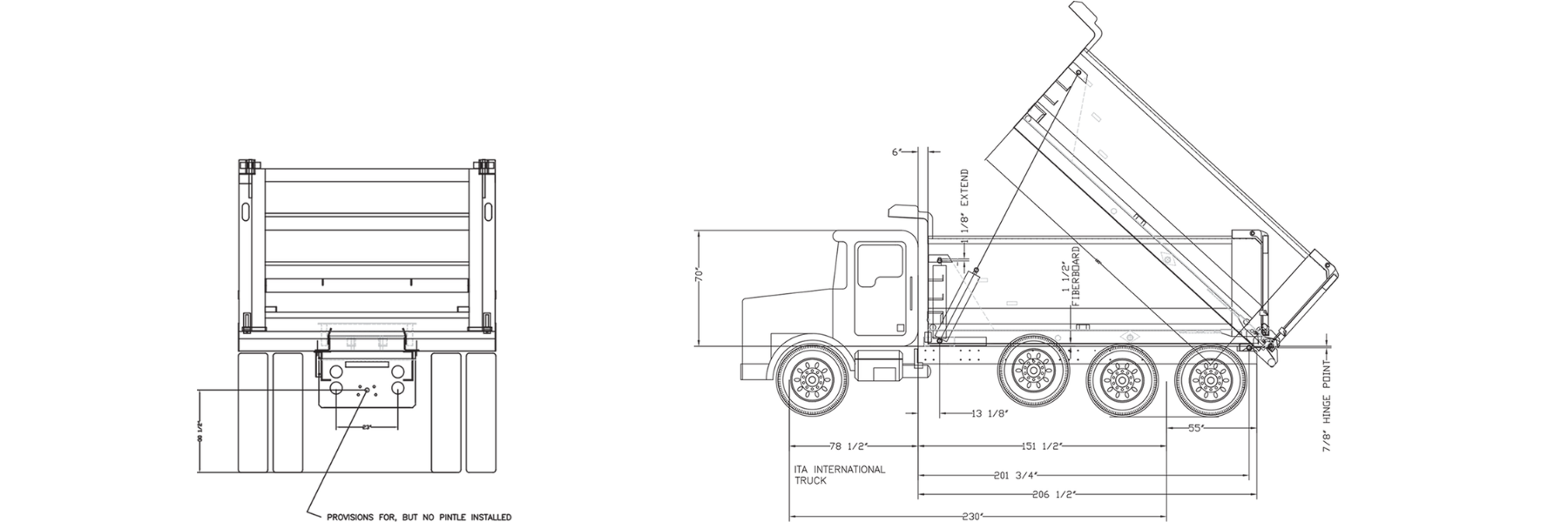 Ranco Dump Body Trailer Drawings